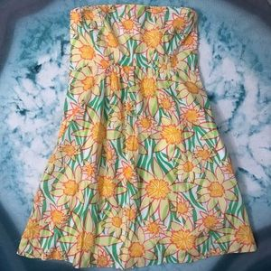 🌻Lilly Pulitzer Sunflower Print Strapless Dress 6